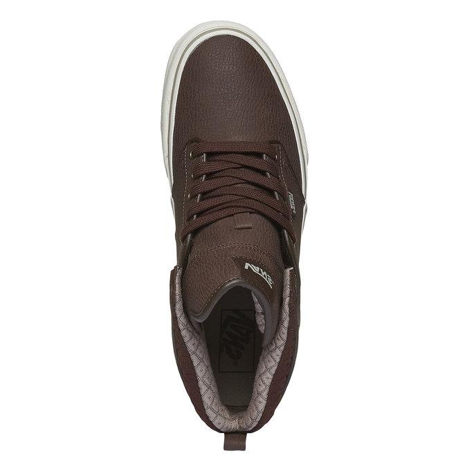 Męskie buty sportowe do kostki vans, brązowy, 801-4305 - 19