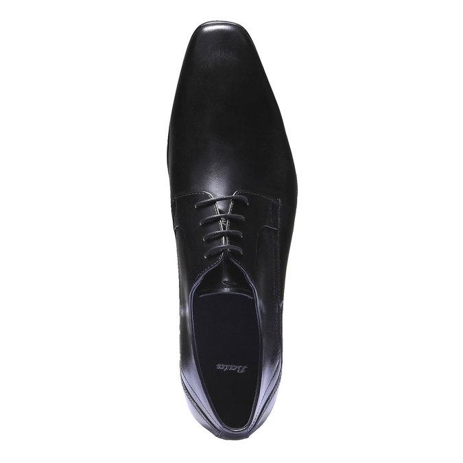 Skórzane półbuty w stylu Derby bata, czarny, 824-6548 - 19