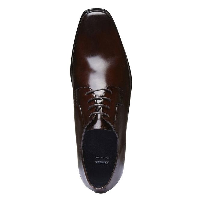 Skórzane półbuty o kroju Derby bata, brązowy, 824-4550 - 19