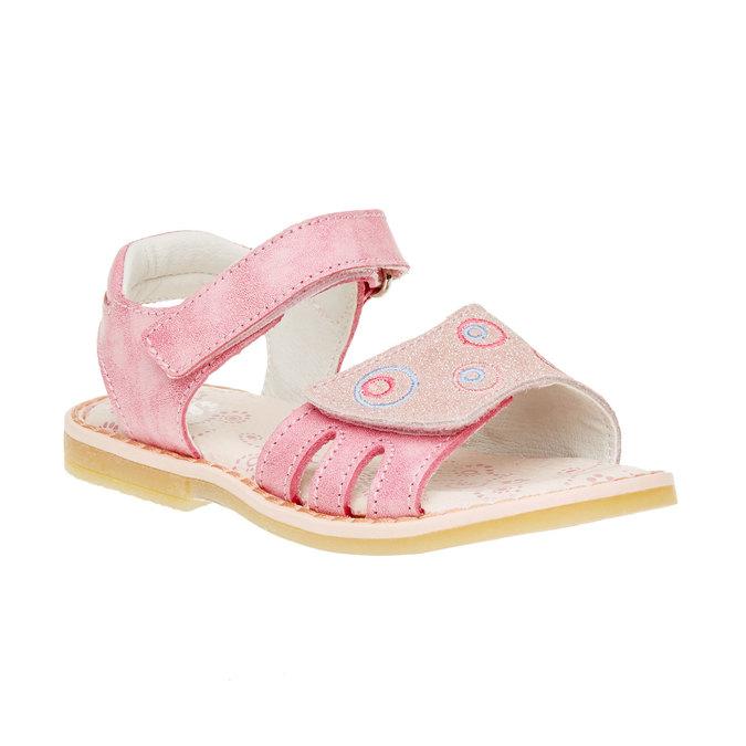 Dziecięce skórzane sandały mini-b, różowy, 266-5310 - 13