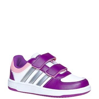 Trampki dziecięce na rzepy adidas, fioletowy, 301-1167 - 13