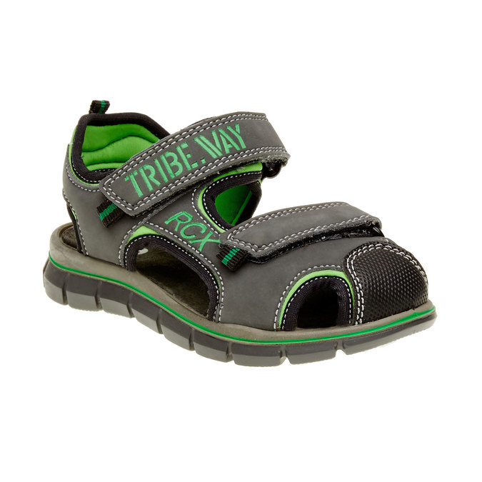 Sandały dziecięce mini-b, szary, 361-2120 - 13