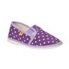 Domowe buty dziecięce w kropki bata, fioletowy, 279-9103 - 13
