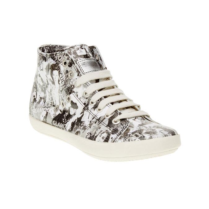 Skórzane buty sportowe do kostki bata, biały, 526-1130 - 13