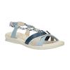 Damskie skórzane sandały bata-touch-me, niebieski, 564-9353 - 13