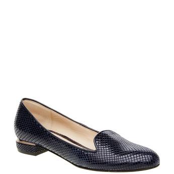 Damskie skórzane mokasyny bata, niebieski, 524-9412 - 13