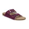 Damskie skórzane pantofle de-fonseca, fioletowy, 573-5620 - 13