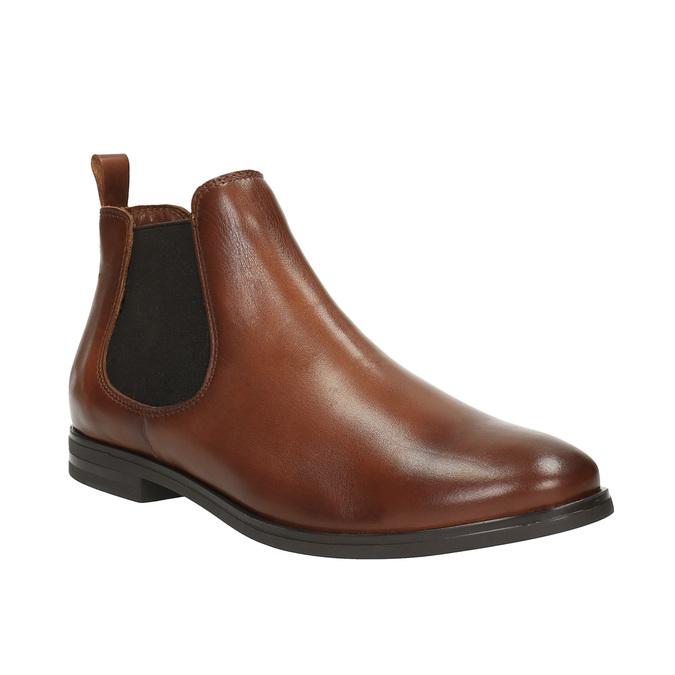 Brązowe skórzane buty Chelsea Boots bata, brązowy, 594-4604 - 13