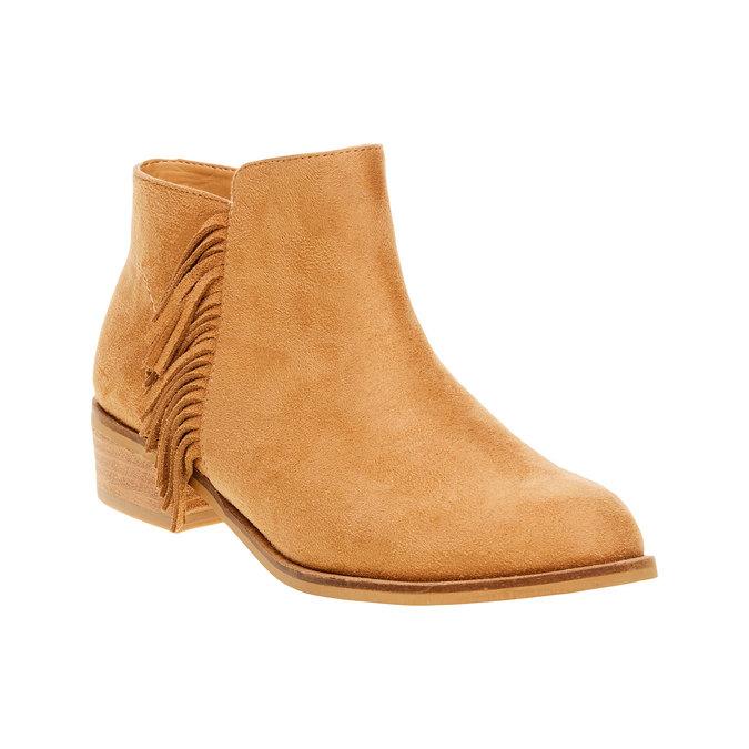 Kozaki do kostki z frędzlami bata, brązowy, 599-3102 - 13