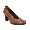 Czółenka damskie na szerokim obcasie bata, brązowy, 726-3604 - 13