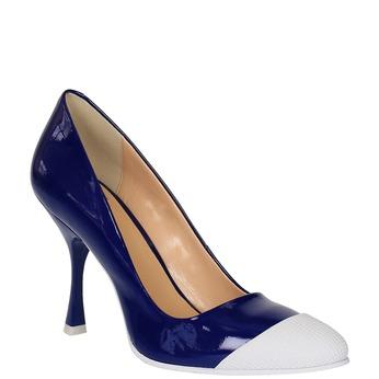 Czółenka damskie bata, niebieski, 726-9630 - 13