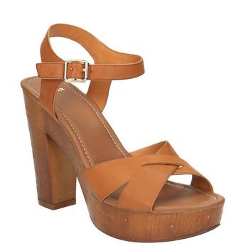 Sandały na masywnym obcasie bata, brązowy, 761-3500 - 13