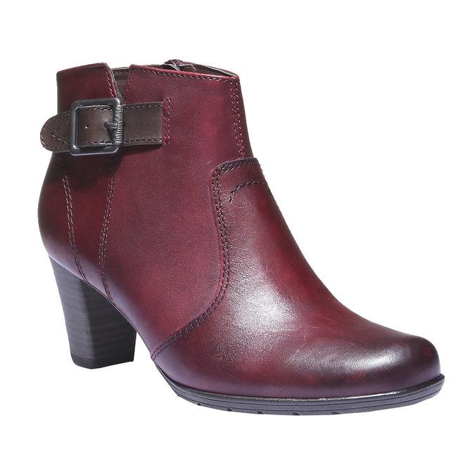 Skórzane botki bata, czerwony, 794-5100 - 13