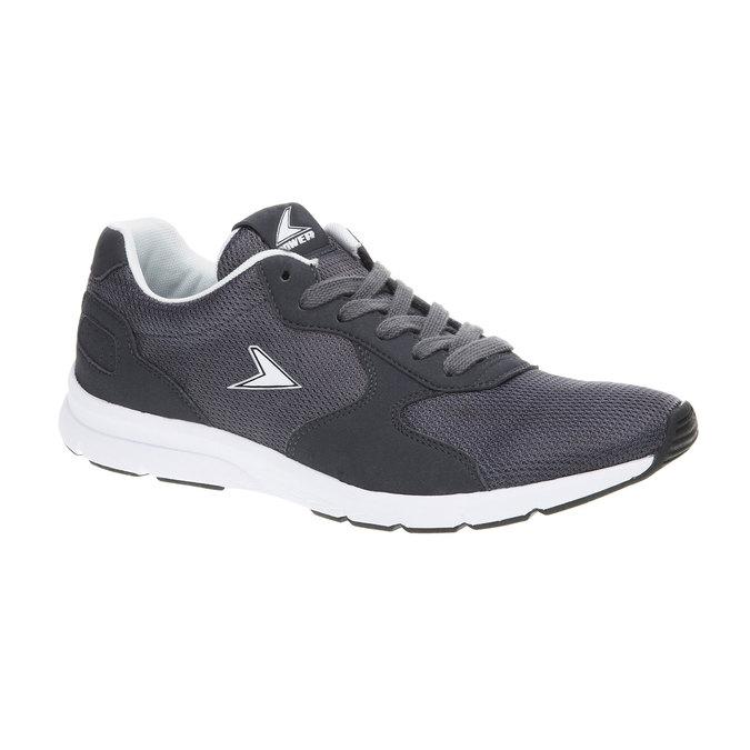 Męskie buty sportowe power, szary, 809-2159 - 13