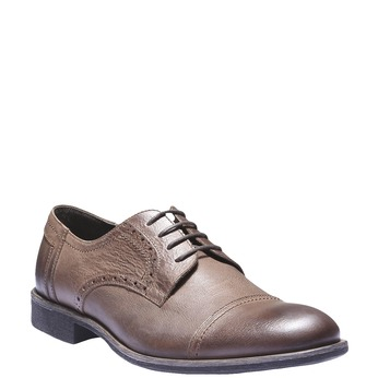 Skórzane półbuty w stylu Derby bata, brązowy, 824-3274 - 13