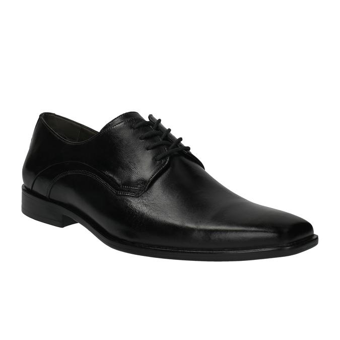 Męskie skórzane półbuty bata, czarny, 824-6720 - 13
