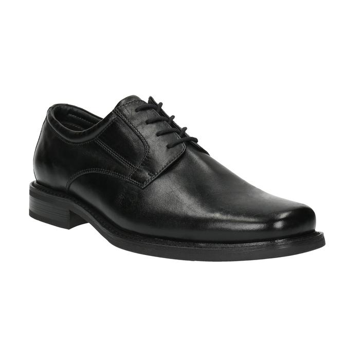 Męskie skórzane półbuty bata, czarny, 824-6655 - 13