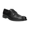 Skórzane półbuty z zaokrąglonym noskiem bata, czarny, 824-6657 - 13