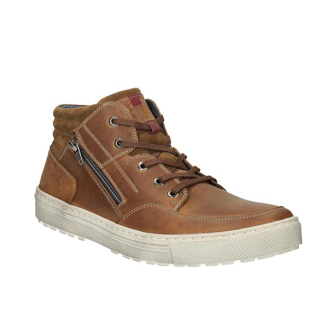 Trampki męskie za kostkę bata, brązowy, 826-3650 - 13