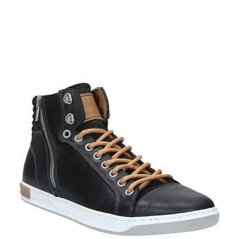Trampki męskie za kostkę bata, czarny, 844-6625 - 13