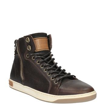 Trampki męskie za kostkę bata, brązowy, 844-4625 - 13