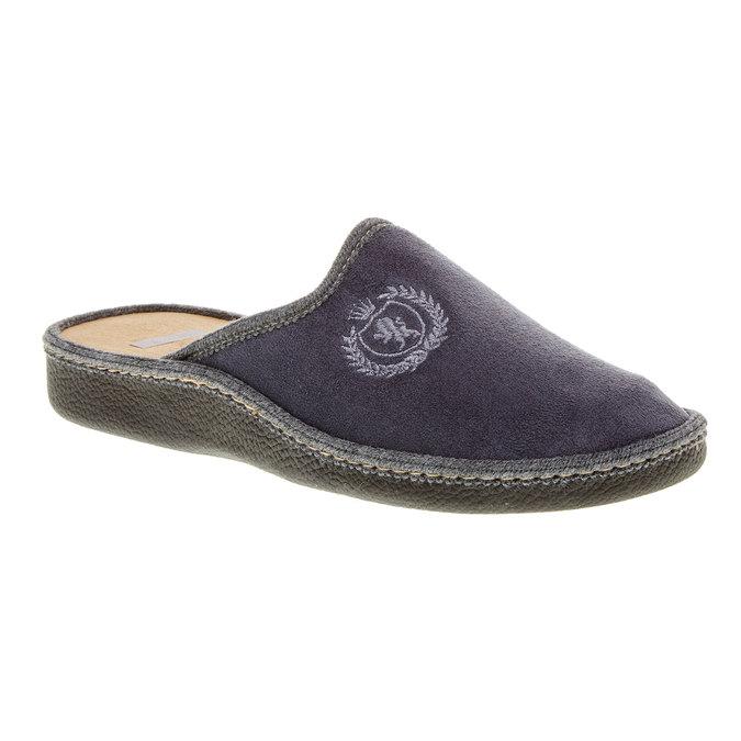 Męskie obuwie domowe bata, szary, 879-2165 - 13