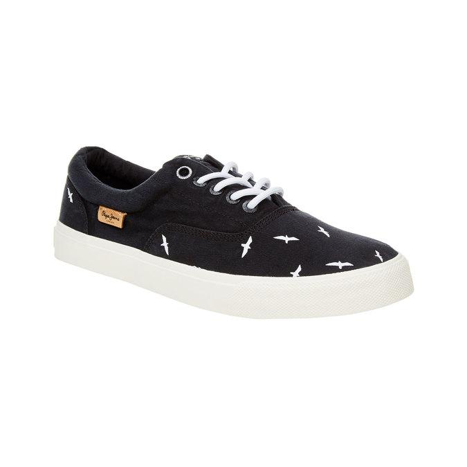 Męskie czarne buty sportowe w codziennym stylu pepe-jeans, czarny, 849-6007 - 13