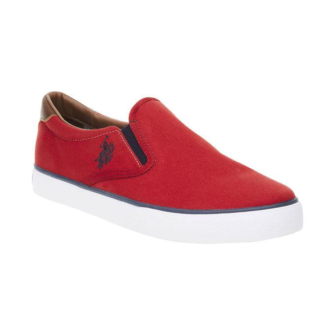 Czerwone slip on męskie u-s-polo-assn-, czerwony, 849-5002 - 13