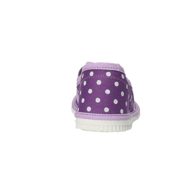Domowe buty dziecięce w kropki bata, fioletowy, 279-9103 - 17