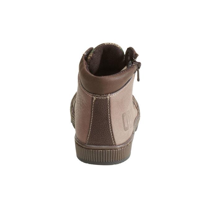 Skórzane botki chłopięce mini-b, brązowy, 114-4135 - 17