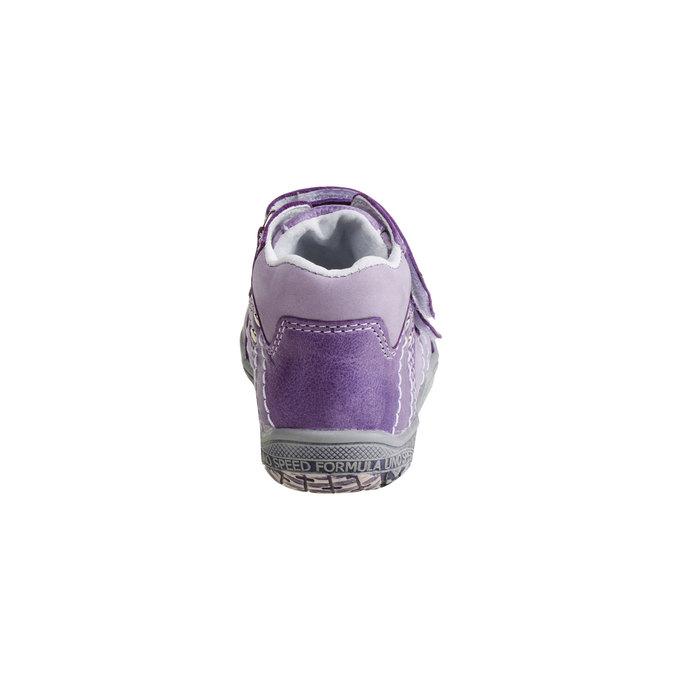 Dziecięce skórzane buty do kostki mini-b, fioletowy, 126-9100 - 17