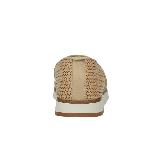 Damskie skórzane buty Slip-On flexible, beżowy, 515-8203 - 17