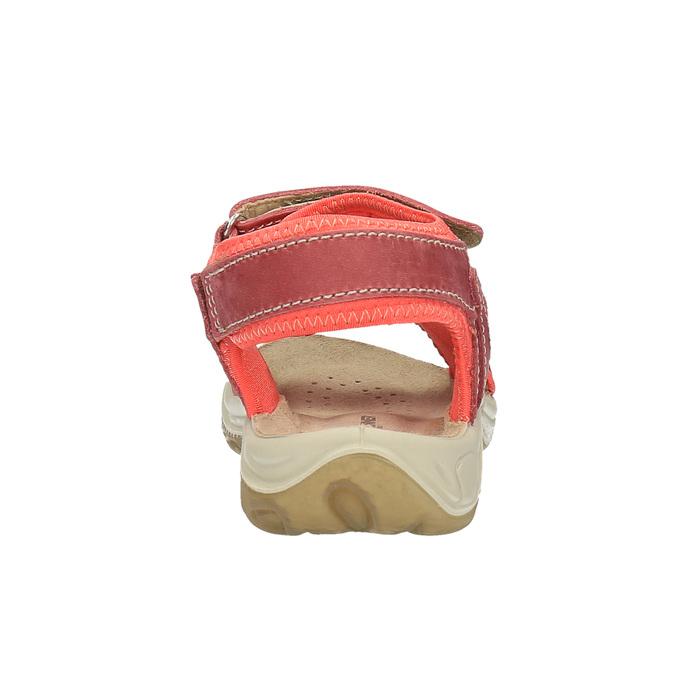 Dziecięce skórzane sandały weinbrenner-junior, czerwony, 366-5170 - 17