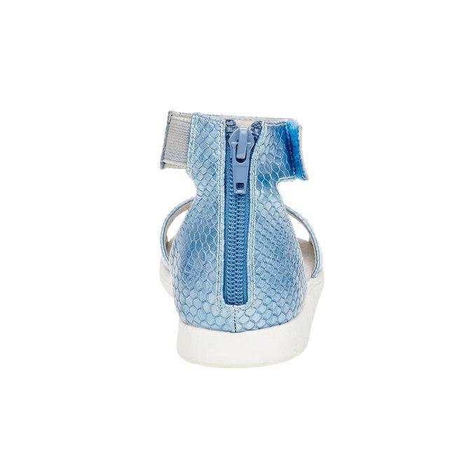 Sandały z paskiem wokół kostki bull-boxer, niebieski, 421-9002 - 17