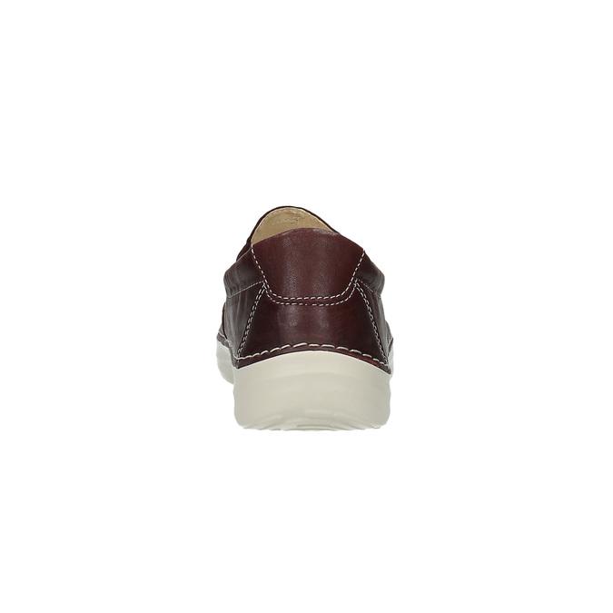 Damskie slip on ze skóry flexible, czerwony, 526-5604 - 17