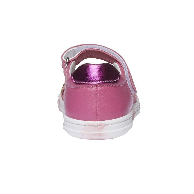 Dziewczęce pantofelki z kokardką mini-b, czerwony, 224-5165 - 17
