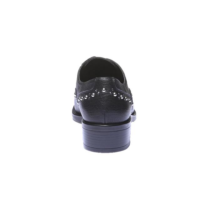 Damskie buty Slip-on z metalowymi ćwiekami bata, czarny, 511-6161 - 17