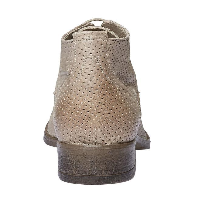Damskie skórzane botki bata, beżowy, 524-8468 - 17