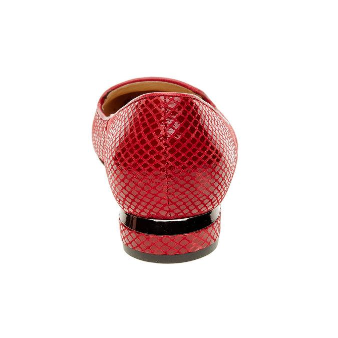 Czerwone skórzane mokasyny bata, czerwony, 524-5412 - 17
