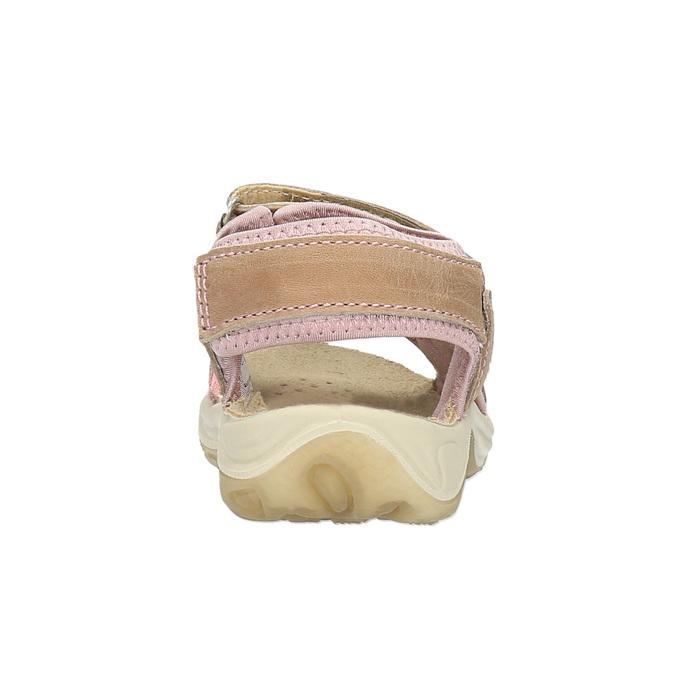 Dziecięce skórzane sandały weinbrenner-junior, brązowy, 366-3170 - 17