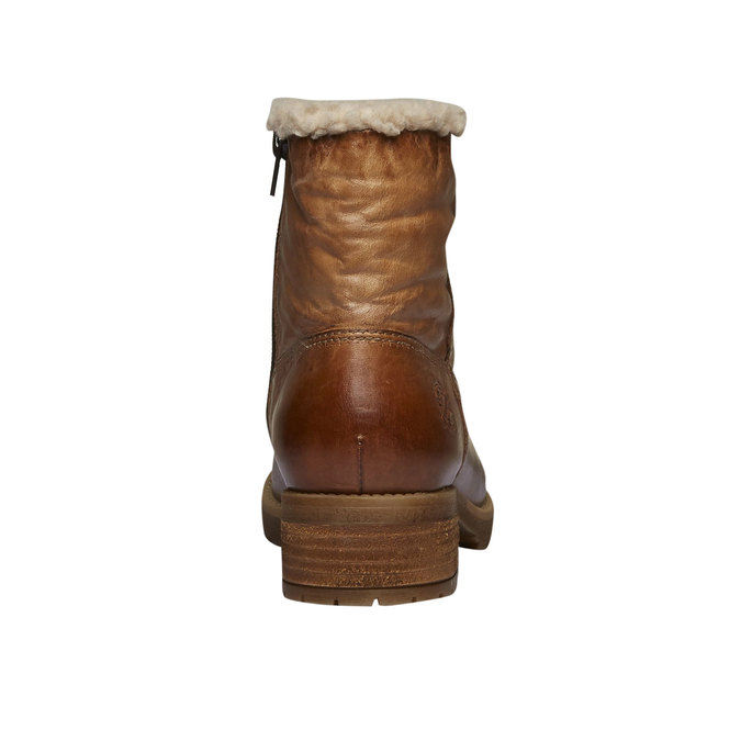 Skórzane buty zimowe bata, brązowy, 594-3101 - 17