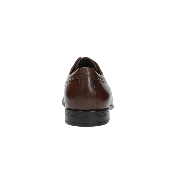 Brązowe skórzane półbuty bata, brązowy, 824-4723 - 17