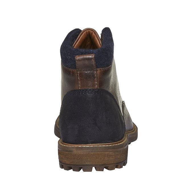 Skórzane botki bata, brązowy, 894-4133 - 17