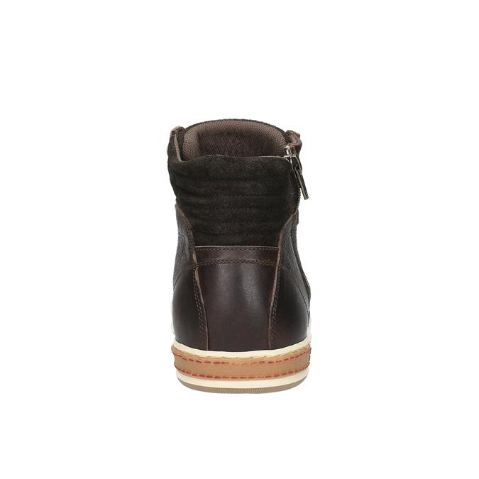 Trampki męskie za kostkę bata, brązowy, 844-4625 - 17