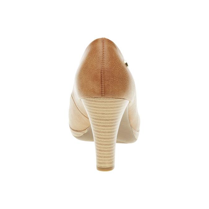 Czółenka na szerokim obcasie bata, brązowy, 721-4946 - 17
