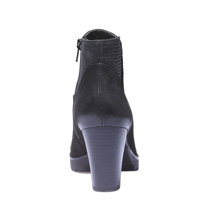 Skórzane botki bata, czarny, 796-6122 - 17