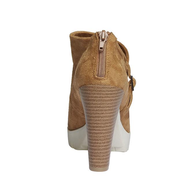 Kozaki do kostki z charakterystyczną podeszwą bata, brązowy, 799-3630 - 17