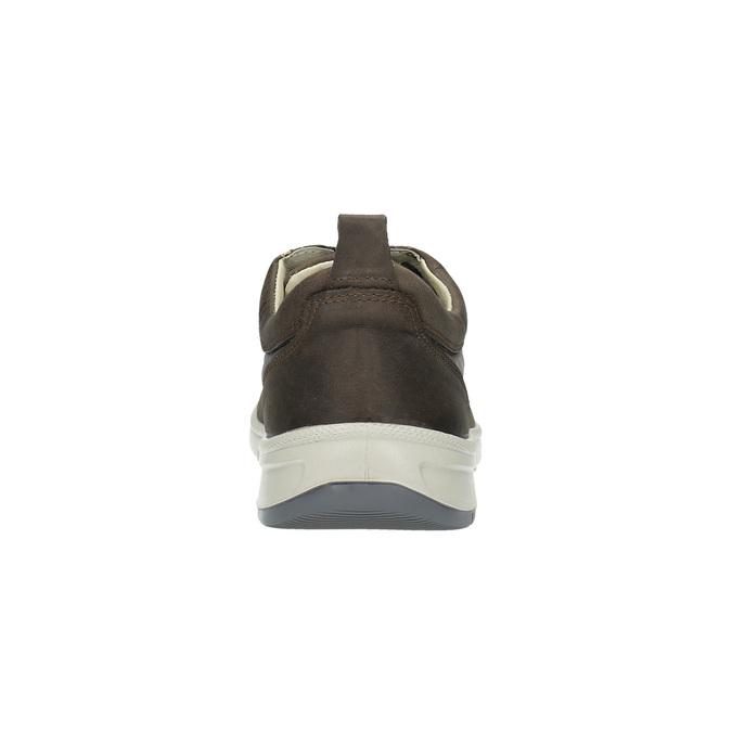 Męskie skórzane buty sportowe, brązowy, 843-4632 - 17