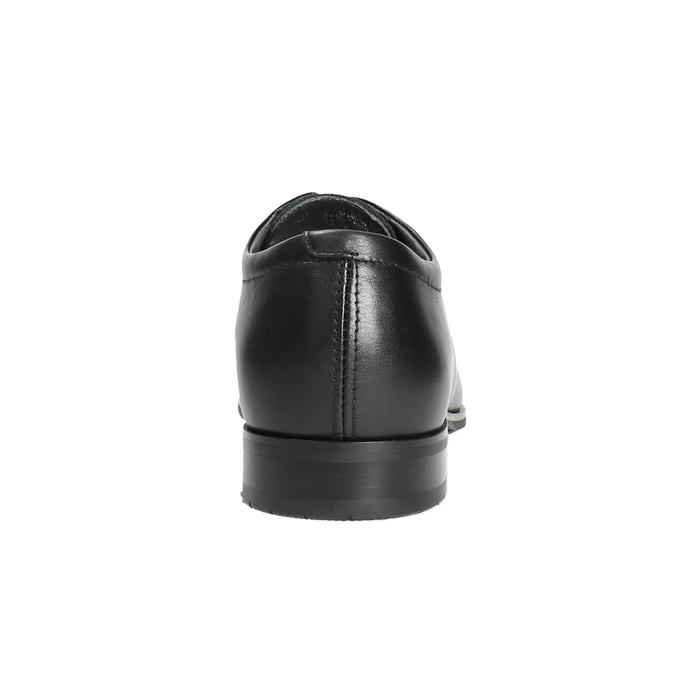 Męskie skórzane półbuty bata, czarny, 824-6669 - 17
