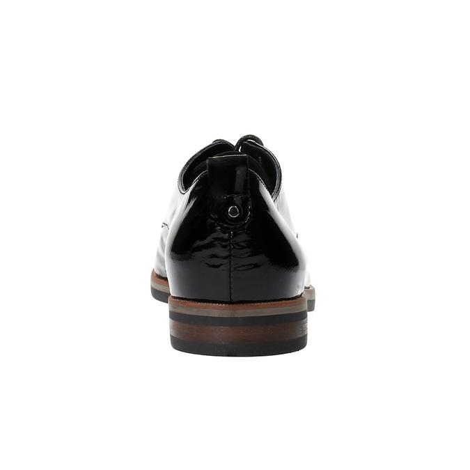 Półbuty angielki damskie bata, czarny, 528-6600 - 17
